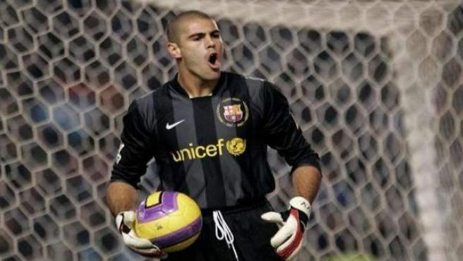 El portero del FC Barcelona, Víctor Valdés.