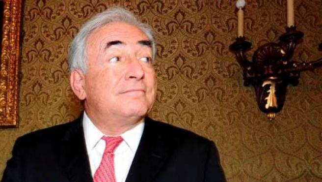 Imagen de archivo del director del Fondo Monetario Internacional, Dominique Strauss-Kahn.