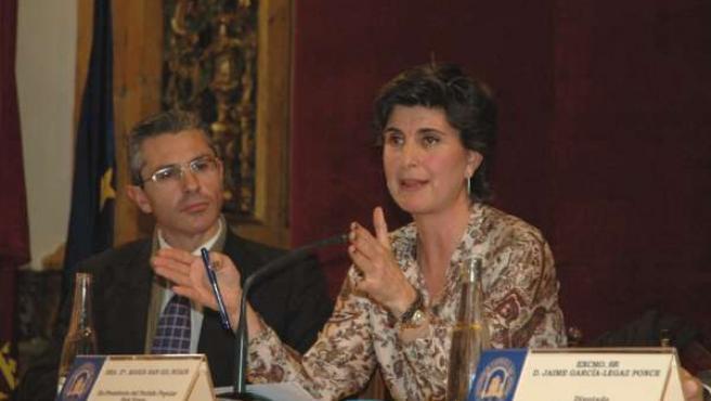 conferencia que ha impartido esta mañana en la UCAM la ex presidenta del Partido