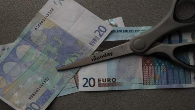 Billetes de euro.