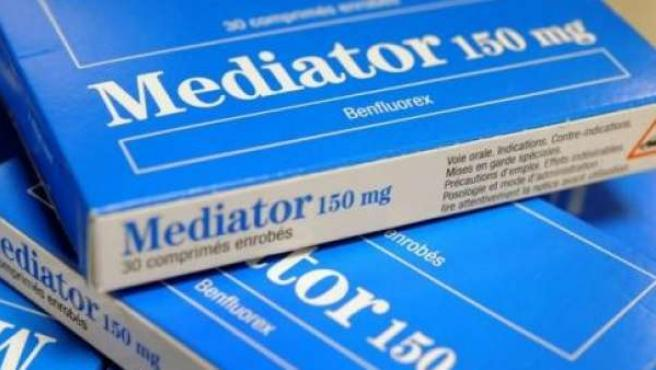 Cajas del medicamento Mediator.