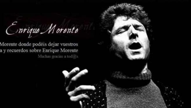 Página web de la familia Morente.