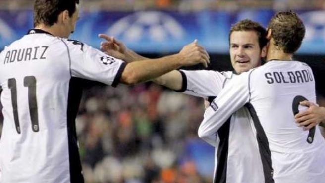 El futbolista del Valencia, Juan Mata.