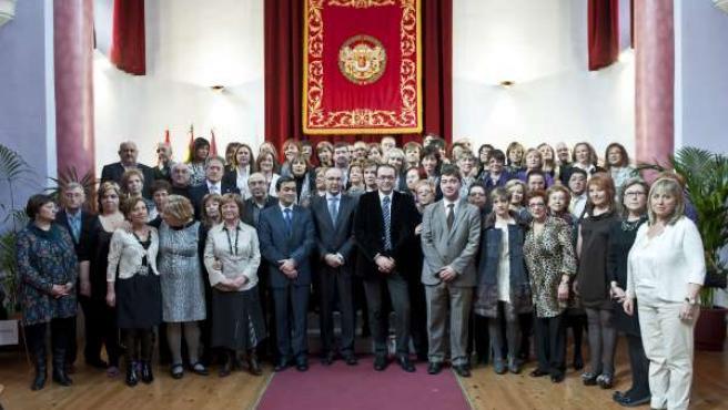La Diputación de Valladolid entrega las medallas y distinciones a los funcionari