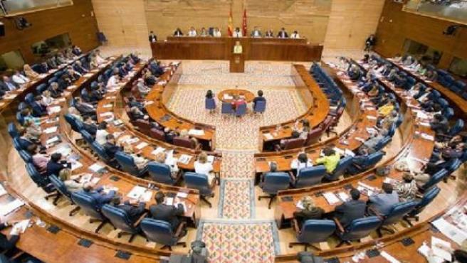 Hemiciclo de la Asamblea de Madrid.