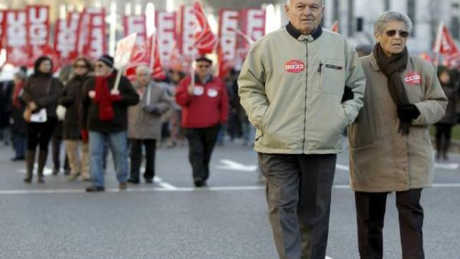 Manifestación contra el aumento de la edad de jubilación.