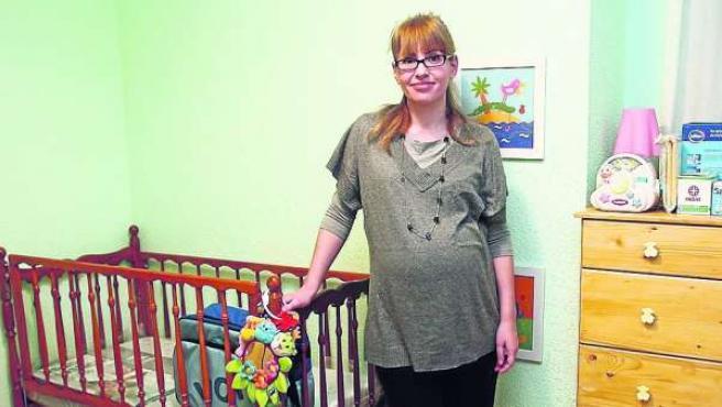 Natalia Rodríguez Vega, embarazada de 8 meses.