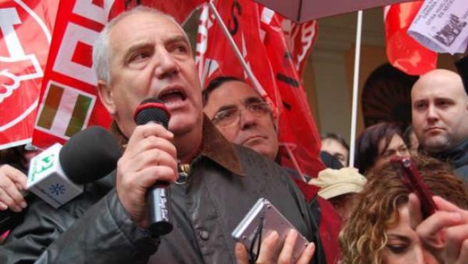 Francisco Carbonero, en una protesta sindical