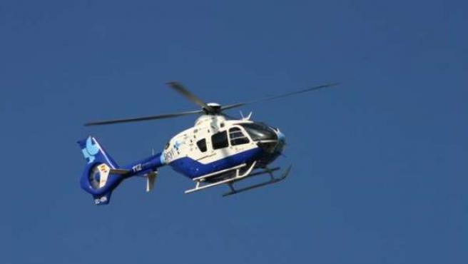 Helicóptero de Emergencias Sanitarias-Sacyl.