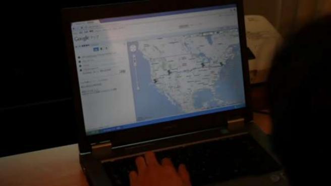 Itinerario que siguieron en los mapas de Google.
