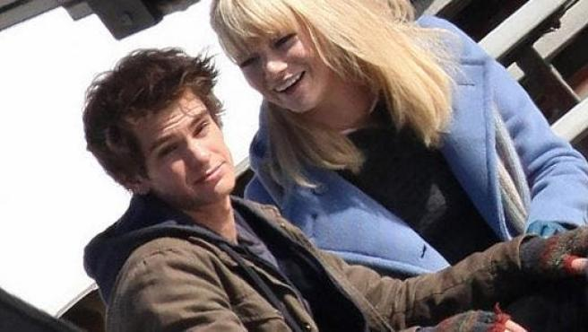 Primeras fotos de Andrew Garfield y Emma Stone en 'Spiderman'