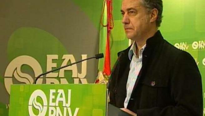 Declaraciones de Iñigo Urkullu (PNV) valorando el discurso del Lehendakari Patxi