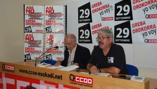 Jesús Uzkudun y Ángel Cárcoba