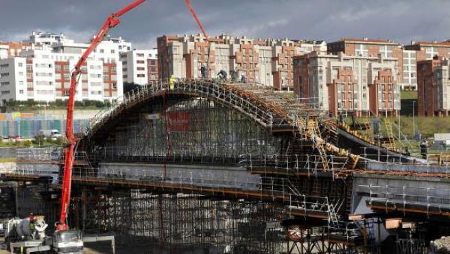 Imagen de archivo de las obras del puente