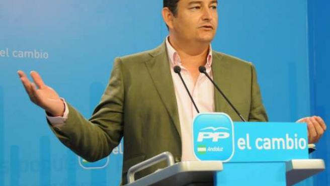 Antonio Sanz, secretario general del PP-A