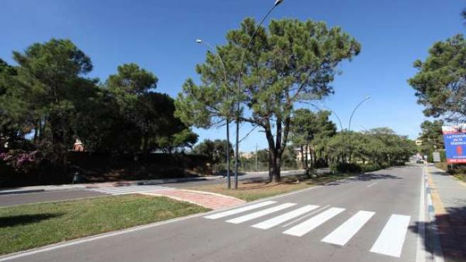Una de las vías del distrito de Las Chapas en las que ha actuado el Ayuntamiento