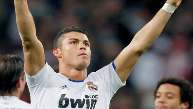 Cristiano Ronaldo, delantero del Real Madrid, celebra uno de sus goles en una imagen de archivo.