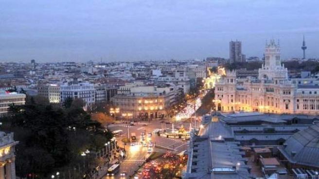 Madrid desde la terraza del Círculo de Bellas Artes.