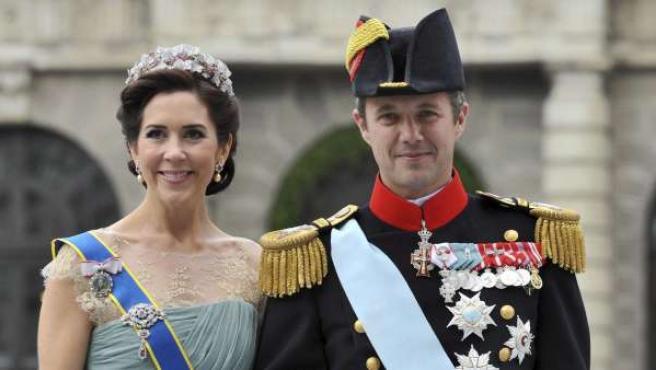 El príncipe heredero Federico de Dinamarca, y su mujer, la princesa Mary.