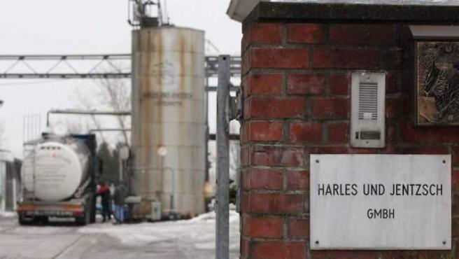 Fábrica de piensos Harles & Jentzsch en Uestersen (Alemania), donde se utilizaron grasas etiquetadas como industriales para fabricar pienso.