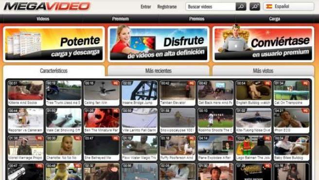Megavideo recibe millones de visitas diarias.