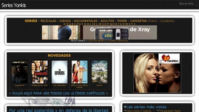 Una captura de pantalla de la web 'Series Yonkis'.