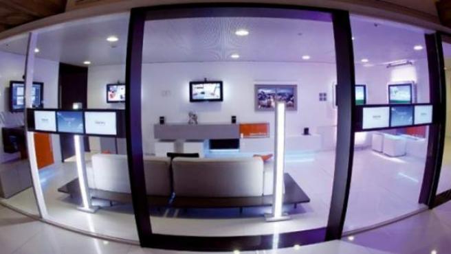El sofá inteligente en un espacio domótico creado por Telefónica.