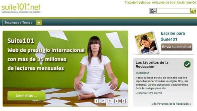 Imagen de la web de suite101.net