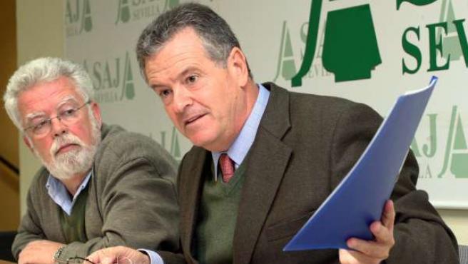 El presidente de Asaja-A, Ricardo Serra, y el secretario general de Asaja-Sevill