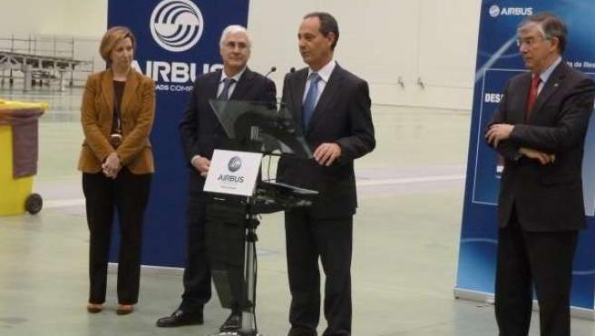 El presidente en su visita a la factoría de Airbus