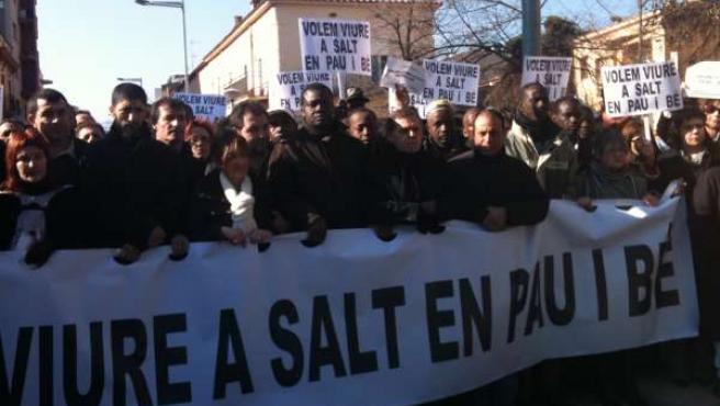 Manifestación en Salt