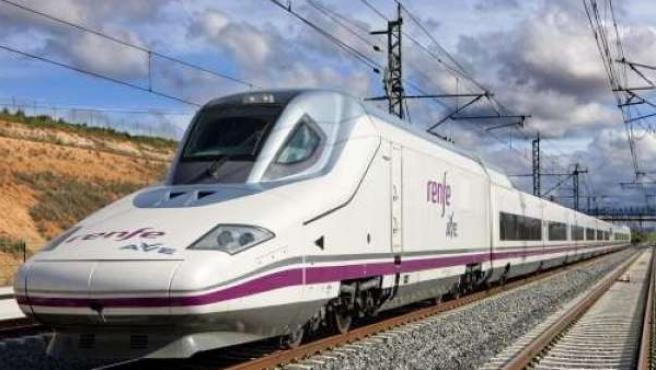 Un tren de alta velocidad (AVE).
