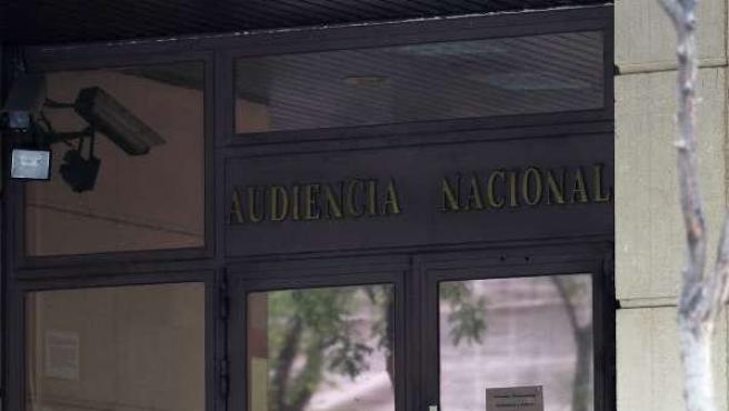 Imagen de la fachada de la Audiencia Nacional.