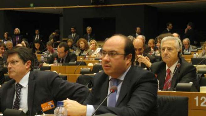 Los alcaldes deLorca y Puerto Lumbreras el Parlamento Europeo