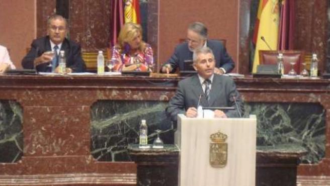 Martín Quiñonero en una foto de septiembre de 2010 en la Asamblea Regional