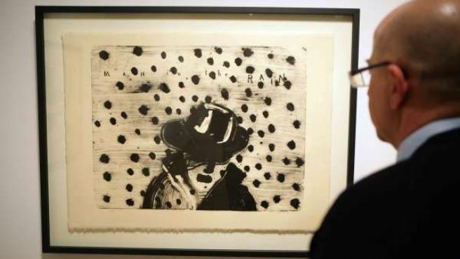 Una obra de la muestra 'Action Reaction. El universo creativo de David Lynch' qu
