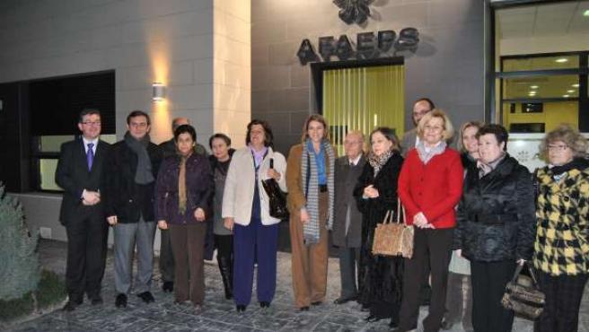 Cospedal en la sede de AFAEPS