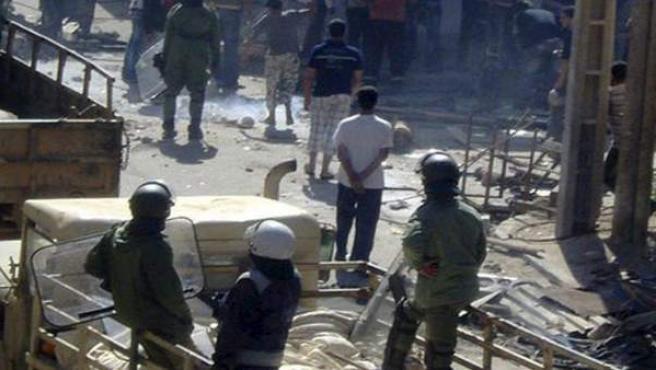 Imagen de archivo de los incidentes en la ciudad de El Aaiún.