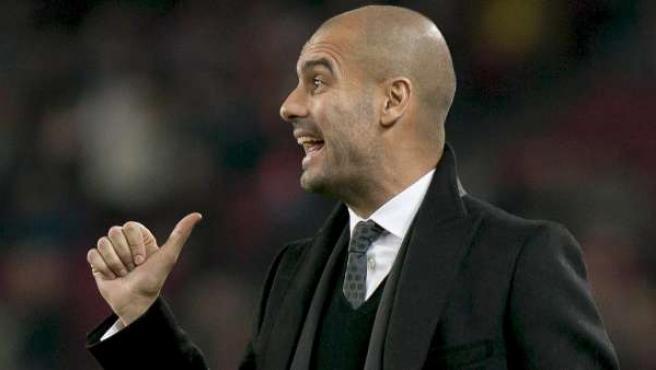 El entrenador del Barcelona, Pep Guardiola.