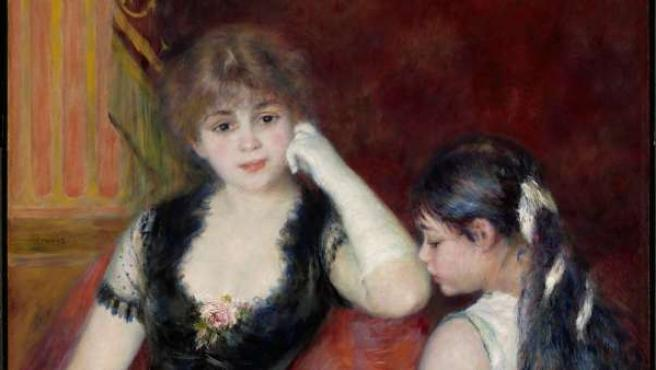 La obra 'Palco en el teatro' de Pierre Auguste Renoir.