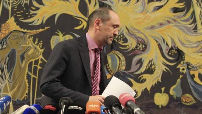 El mediador real Johan Vande Lanotte, en el senado en Bruselas.