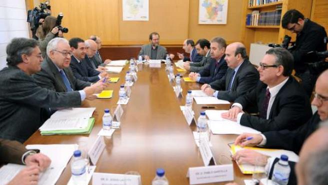 Reunión de la Comisión Mixta de Transferencias Aragón-Estado, en enero de 2011