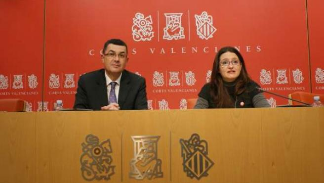 Enric Morera y Mònica Oltra