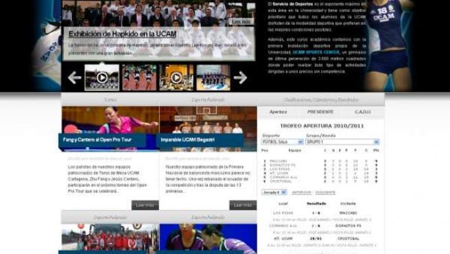 Imagen de la web deportiva