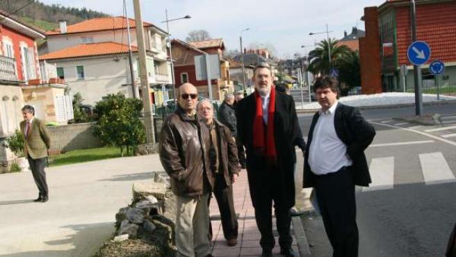 Ibáñez y Gómez visitan las obras en la N-634