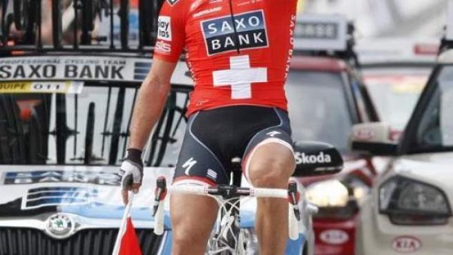 El ciclista suizo Fabian Cancellara.