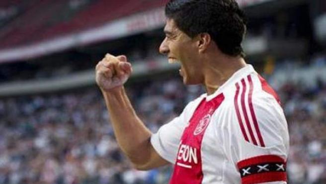 Luis Suárez, en un partido del Ajax