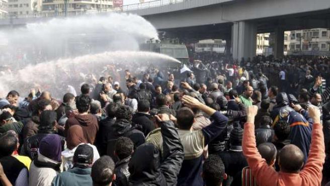 La plaza Tahrir de El Cairo, totalmente ocupada.