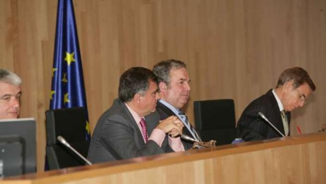 Salvador Pendón, en el pleno de la Diputación