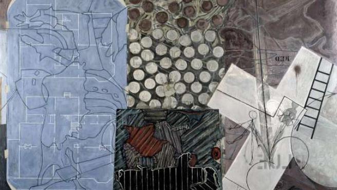 Una de las obras de Jasper Johns en el IVAM